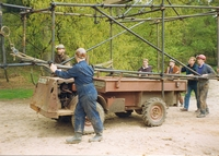 Moving the headframe from Ring Shaft to Balloon Shaft