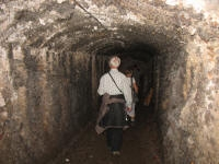 Picture 3: In the tunnel that led to the base of the tower