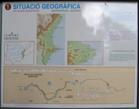Picture 4: Display board of regional and local geology with a map of the cave.
